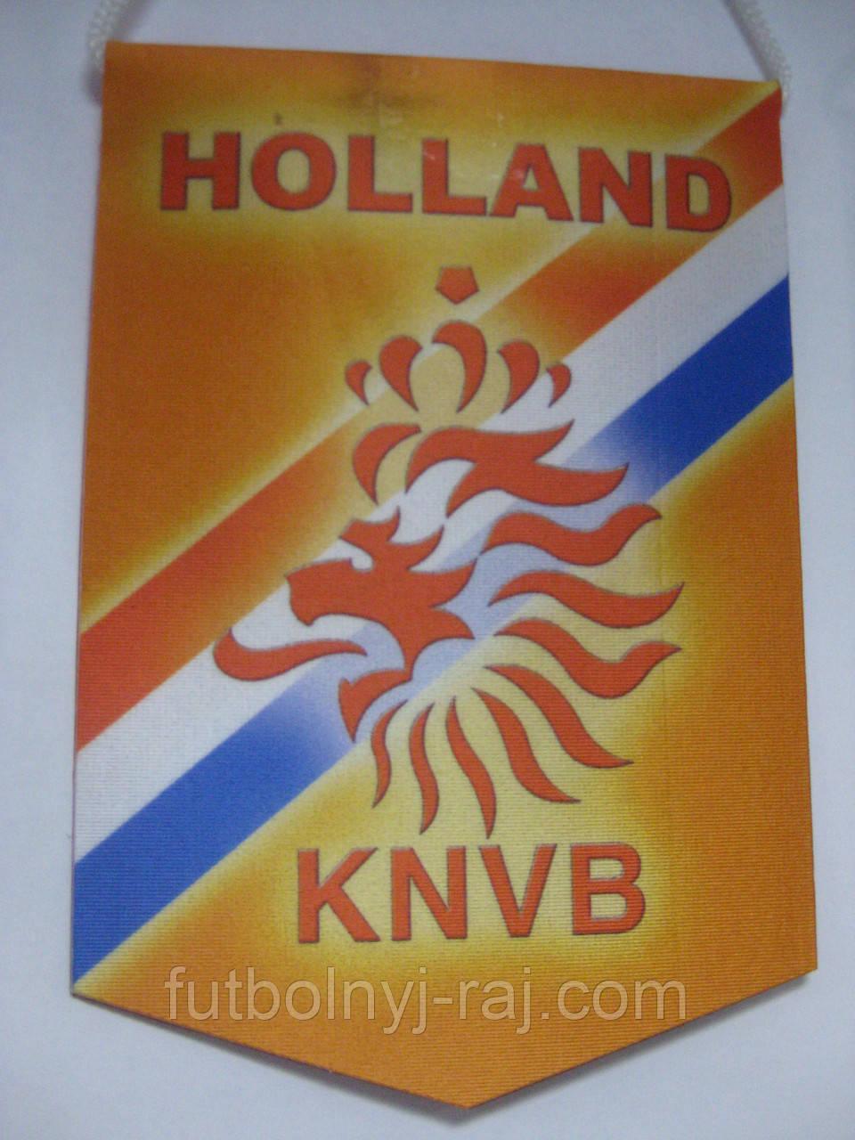 Вымпел  футбольный с изображением герба Голландской ФФ