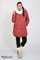 Теплое зимнее пальто Jena для беременных, бордовая