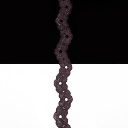 Кружево Италия арт.201 коричневое, шир 1 см, фото 2