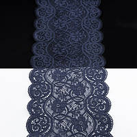 Кружево Италия арт. 77 синее, шир 14 см, боб 10 м