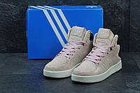 Жіночі замшеві кросівки Adidas Tubular Invader світло-рожеві b1aa13adbc479