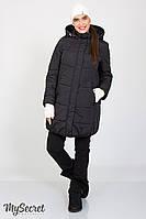 Теплое зимнее пальто Jena для беременных, черное