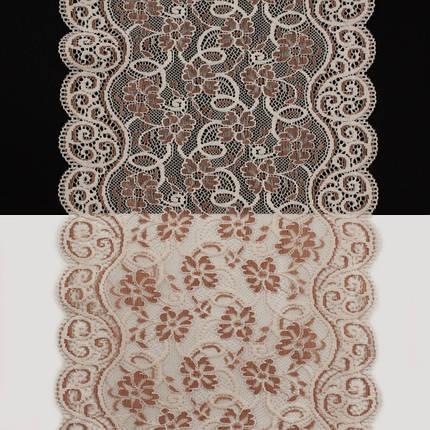 Кружево Италия арт.150 лилов+пудра, шир 20 см, боб 10 м, фото 2