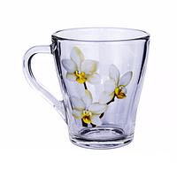 Стеклянная кружка Грация Белая орхидея на 250 мл Gallery Glass 85002773