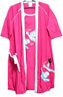 Комплект 2 в 1 халат и ночная рубашка для кормления Турция размер 3XL(52-54)