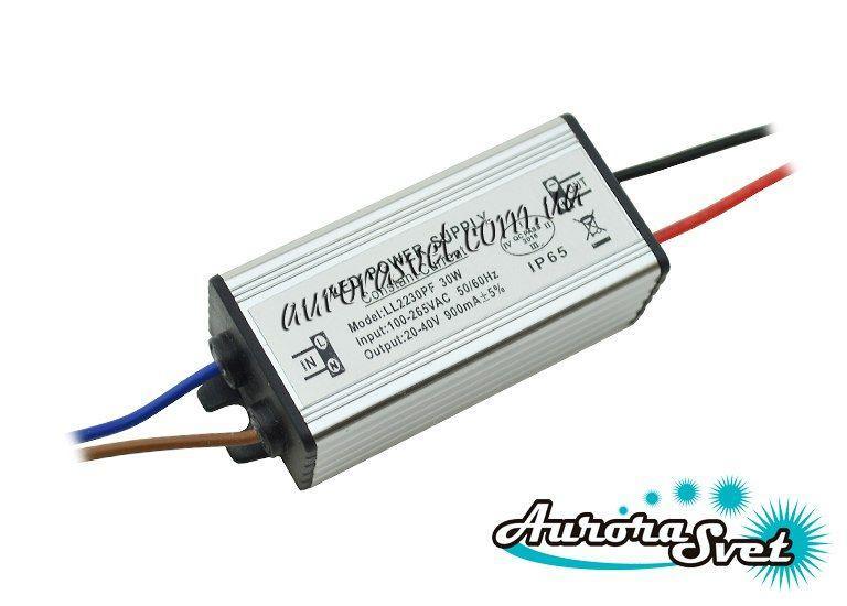 Драйвер 1x30W 220V IP65. LED драйвер. Драйвер светодиодов., фото 1