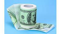 Туалетная бумага прикольная 100 долларов  баксов