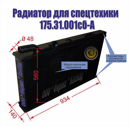 Радиатор водяной 175.31.001сб-А, фото 2
