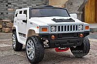 Детский электромобиль MX1345, Hummer, EVA колёса, белый