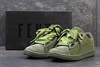 a2546bdaf7a660 Чоловічі осінні кросівки Adidas Tubular Runner світло-сірі. Жіночі замшеві  кросівки Puma Suede Bow -зелені
