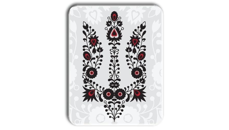 Металл открытка табличка Вышиванка тризуб - Интернет-магазин «Низкоцен» в Киеве