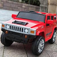 Детский электромобиль MX1345, Hummer, EVA колёса, красный