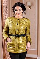 Женская демисезонная красно-золотая куртка В-960 Лаке Тон 66 44-54 размеры