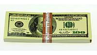 Пачка 100 баксов блокнот с отрывными листками