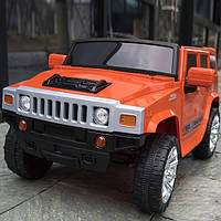 Детский электромобиль MX1345, Hummer, EVA колёса, оранжевый
