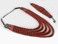 Набор керамический: бусы и браслет