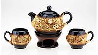 Набор чайный с камином колорит,4 предмета