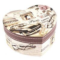 Подарочная коробка сердце с Эйфелевой башней