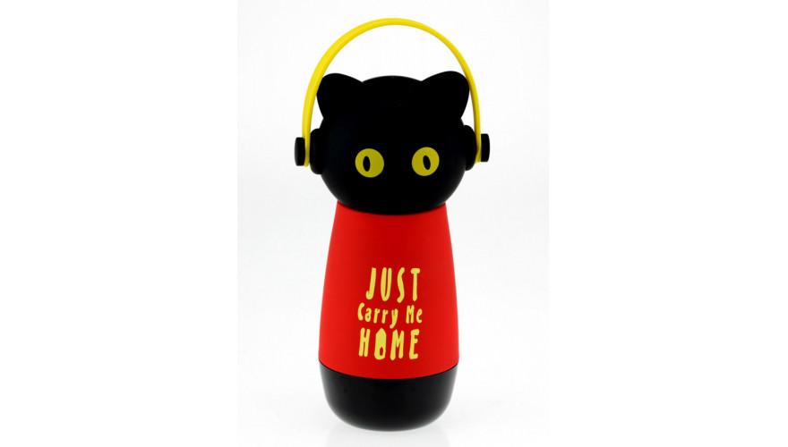 Термос Кот Just Carry Me Home, желтый цвет