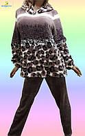 Домашняя одежда для женщин, пижама махровая. Размеры от 50 до 58