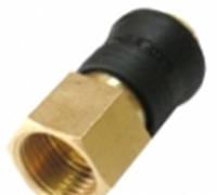 """Быстроразъем пневматический с клапаном, внутренняя резьба 1/4"""" (ONE TOUCH) в пластиковом держателе"""