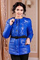 Женская демисезонная электриковая куртка В-960 Лаке Тон 13 44-54 размеры