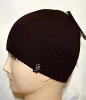 Молодежная мужская шапка вязаная