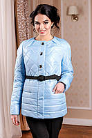 Женская демисезонная блекло-голубая куртка В-960 Лаке Тон 11 44-54 размеры