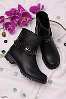 Женские ботинки осенние с ремешком эко кожа весна-осень