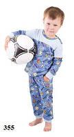 Пижама детская для мальчика WIKTORIA W355 голубой