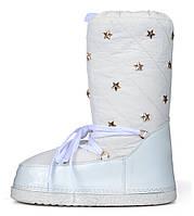 Дутики женские луноходы термо Moon Boots Milk самая теплая обувь, Белый, 40