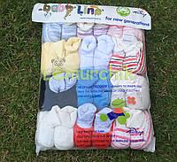 Пинетки детские велюровые упаковка (12 пар)
