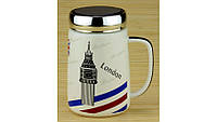 Термокружка Travel Cup, 4 вида  London/Paris/Piza/New-York