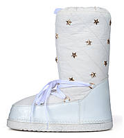 Дутики женские луноходы термо Moon Boots Milk самая теплая обувь, Белый, 36