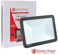 Прожектор светодиодный 100W 10000lm ElectroHouse холодный белый