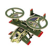 Деревянный конструктор «Самолет Самсон» на солнечной батарее