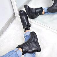 Ботинки женские зимние SportStyle черные ЗИМА 3655, ботинки женские