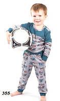 Пижама детская для мальчика WIKTORIA W355 зеленый