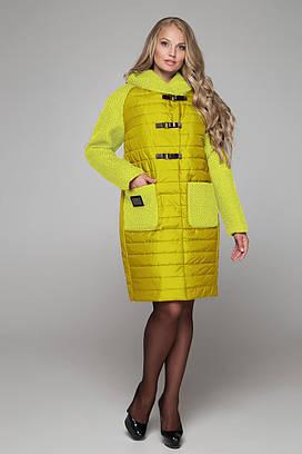 Женское стеганое пальто больших размеров 48-60