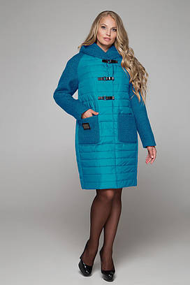 Женское стеганое пальто больших размеров 48 50 52 54 58 60