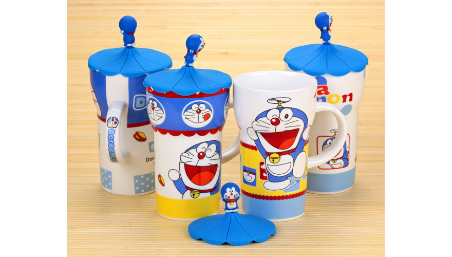 """Кружка большая """"Cat Doraemon"""" БЕЗ КРЫШКИ"""