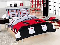 Полуторный комплект постельного белья First Choice Greko Kirmizi