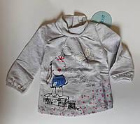 Гольф для девочек Зайчик на 9-12 месяцев Серый Хлопок 152-057(74) Bubble Турция