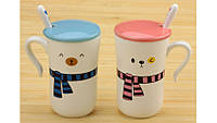 Чашки Happy everyday с шарфиками, набор 2 шт.2 вида