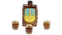 Фляга Украина,набор 4 предмета