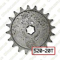 Звезда задняя ведомая Муравей z=20 под цепь ИЖ 520-104