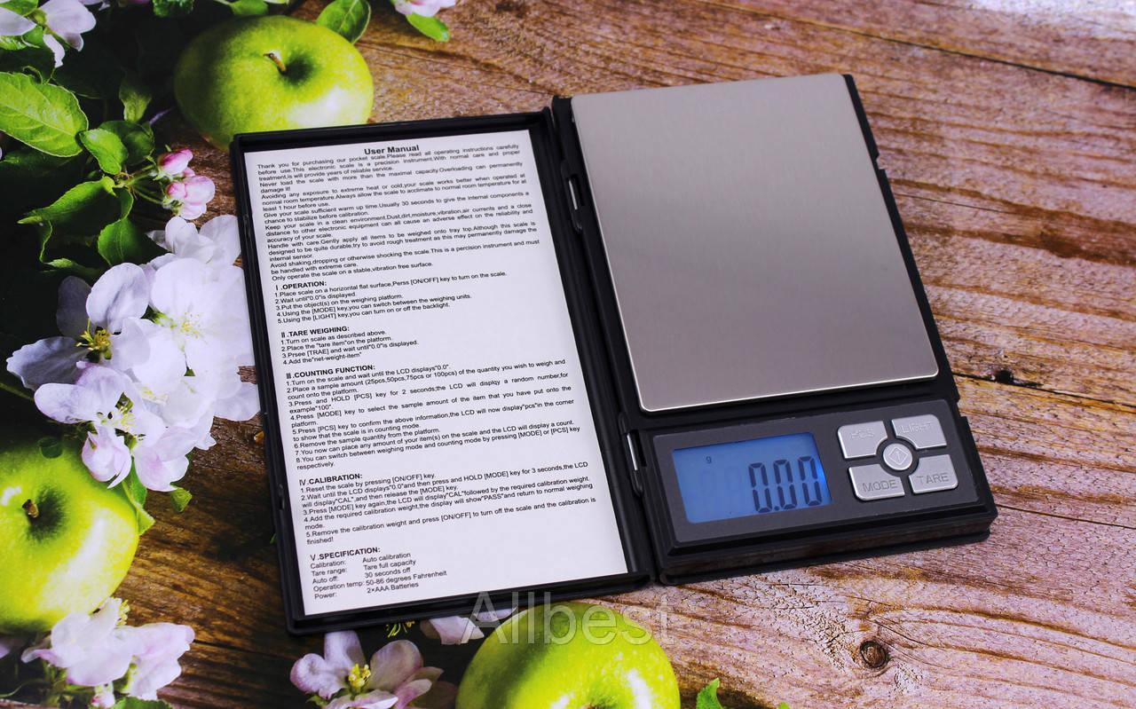 Компактные портативные корманные электронные весы 0,01 гр / до 500 гр