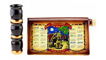 Подарочный коньячный набор Календарь 2018 Год Собаки, 4 предмета, производство Украина, 586030332