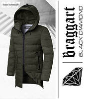 Braggart 'Black Diamond' 9017 | Парка мужская зимняя хаки
