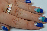 Кольцо серебро комбинированное с золотом